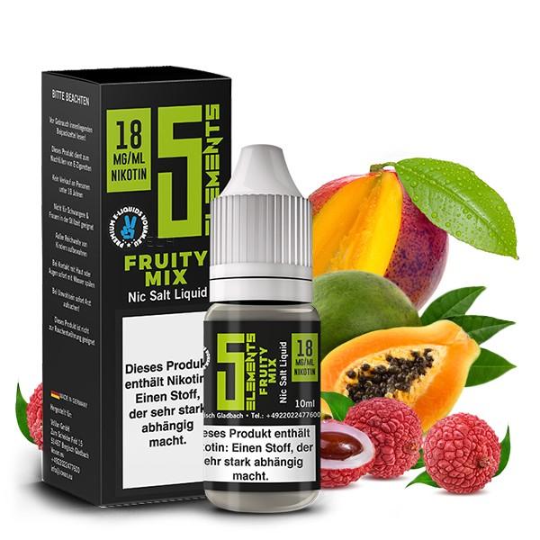 5Elements Nikotinsalz Liquid - Fruity Mix 10 ml 18 mg/ml
