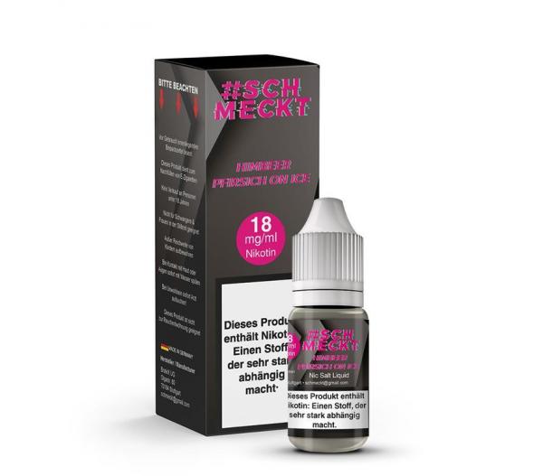 #Schmeckt Nikotinsalz Liquid - Himbeer Pfirsich on ICE 18mg/ml 10 ml