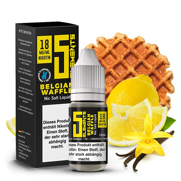 5Elements Nikotinsalz Liquid - Belgian Waffle 10 ml 18 mg/ml