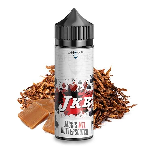 JKR Flavours by Vapehansa - Kreuz Jack's MTL Butterscotch Tobacco Longfill Aroma 10 ml