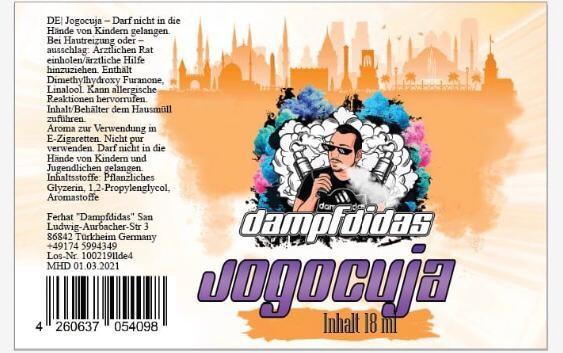 Dampfdidas - Jogocuja Longfill Aroma 18ml