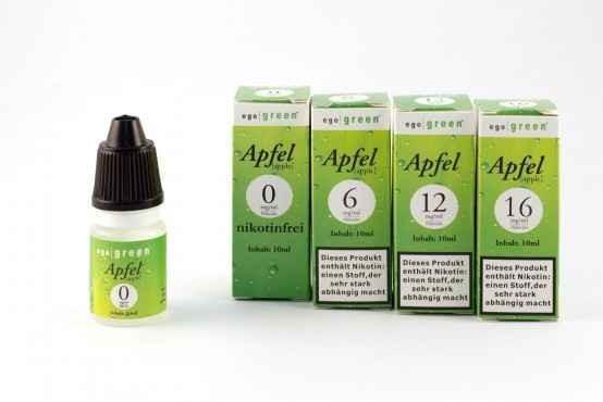 egogreen - Apfel E-Liquid 10ml