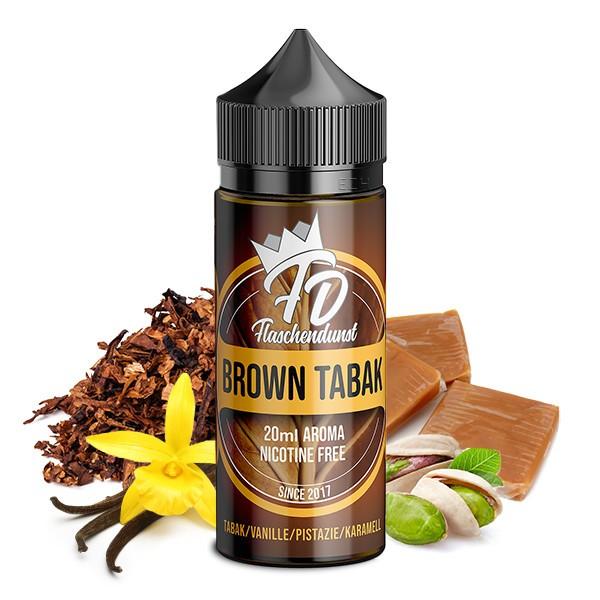 FLASCHENDUNST - Brown Tabak Longfill Aroma 20 ml
