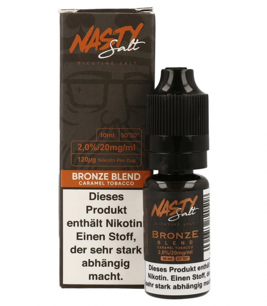 NastyJuice Nicsalt Liquid - Bronze Blend 10 ml 20mg/ml-Copy