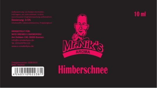 Mr. Nik's Aroma Himbeerschnee 10ml
