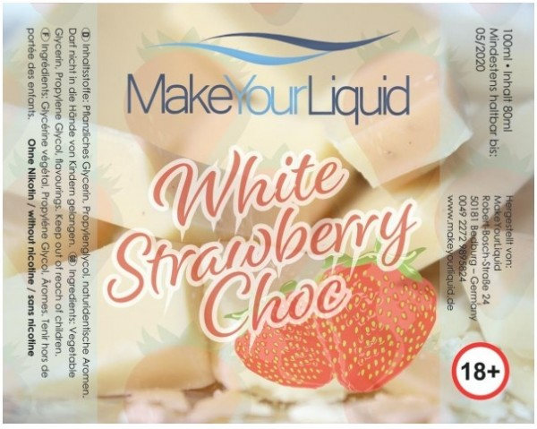 Make Your Liquid - White Strawberry Choc Shake´n´Vape 100 ml
