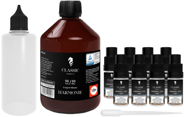 Classic Dampf Mix It Paket 50/50 Harmonie 3mg/ml