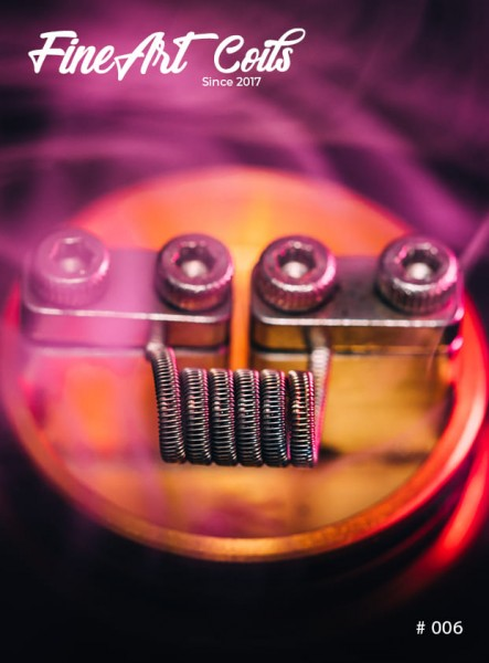 Fineart Coils - Half Staggered Fused Clapton #006