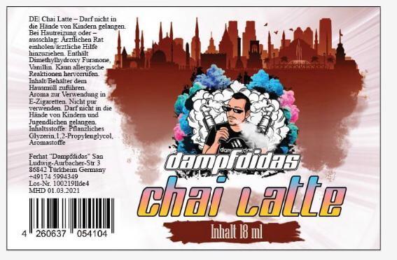 Dampfdidas Chai Latte Longfill Aroma 18 ml