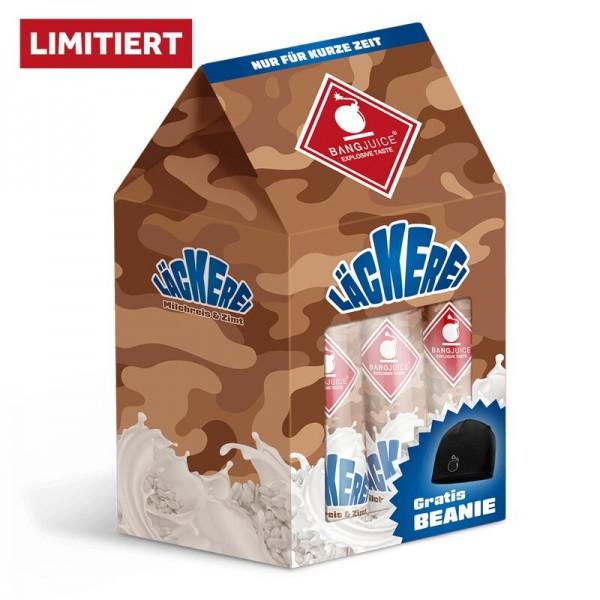 Bang Juice® LÄCKEREI-BUNDLE-LIMITED - 3x Milchreis & Zimt Aroma inkl. BEANIE