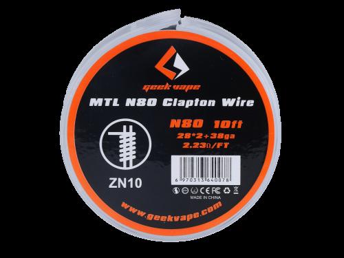 Geek Vape - MTL NI80 Clapton Wire ZN10 28*2+38GA