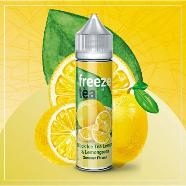 Freeze Tea - Schwarzer Ice Tea mit Zitrone & Zitronengras 50 ml