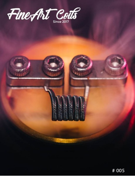 Fineart Coils - Half Staggered Fused Clapton #005