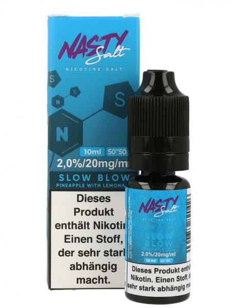 NastyJuice Nicsalt Liquid - Slow Blow 10 ml 20mg/ml