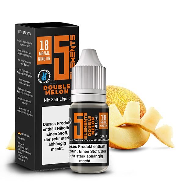5Elements Nikotinsalz Liquid - Double Melon 10 ml 18 mg/ml