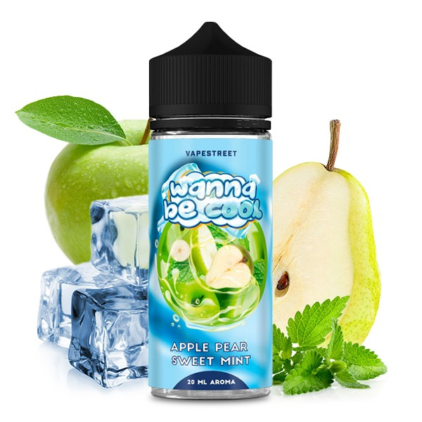 Wanna Be Cool - Apple Pear Sweet Mint Longfill Aroma 20 ml