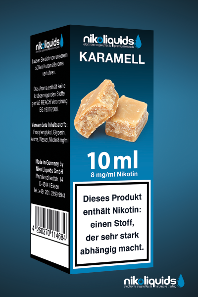 E-Liquid Nikoliquids Karamell MHD 07/19