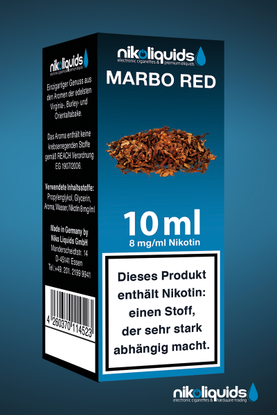 E-Liquid Nikoliquids Marbo Red MHD 08/19