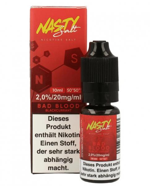 NastyJuice Nicsalt Liquid - Bad Blood 10 ml 20mg/ml