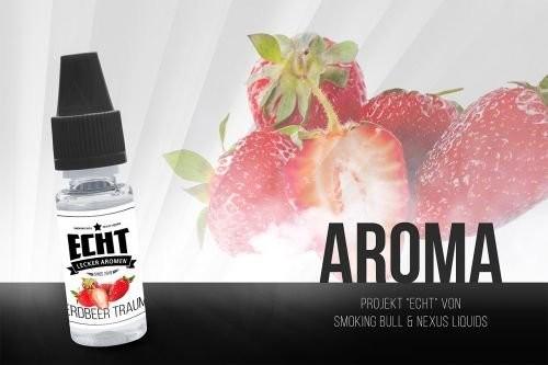 Erdbeer Traum Aroma by ECHT 10 ml MHD 05/19