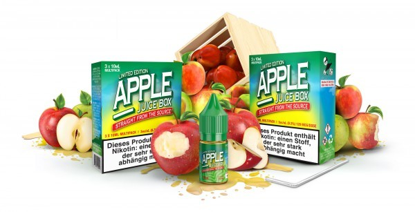 MAD HATTER APPLE JUICE BOX 3 x 10 ml 0 mg MHD 06/19