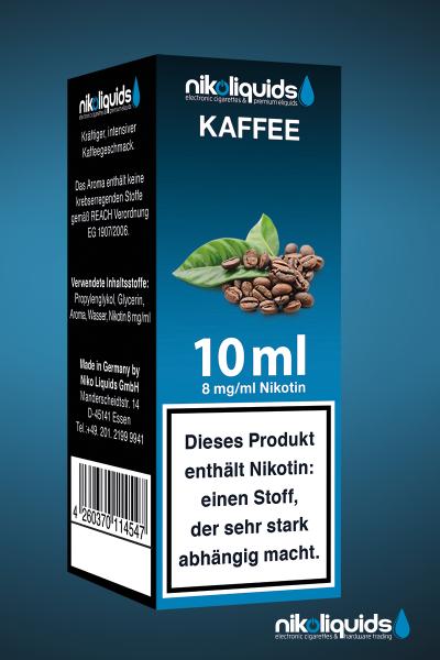 E-Liquid Nikoliquids Kaffee MHD 07/19