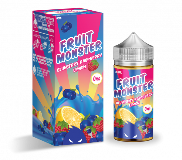 Monster Vape Lab Liquid - Fruit Monster Blueberry Raspberry Lemon 100ml