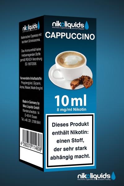 E-Liquid Nikoliquids Cappuccino MHD 07/19