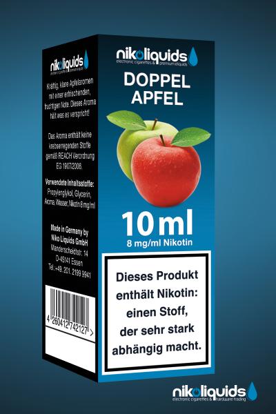 E-Liquid Nikoliquids Doppel Apfel MHD 08/19