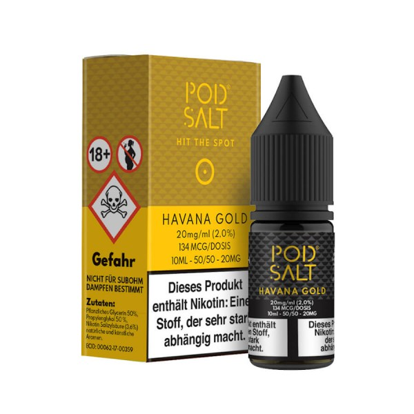 Pod Salt - Havana Gold 10 ml